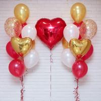"""Воздушные шары """"Влюбленным сердцам"""""""